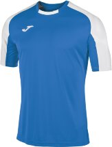 Футболка игровая JOMA CAMISETA ESSENTIAL ROYAL-BLANCO M/C